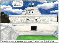 Autor karikature je Steve Bell (The Guardian)